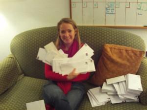 Rachel Holding Letters