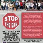 Stop the Ban Rally II – 9am Tues 4/12 San Diego City Hall