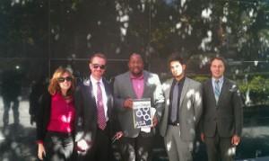 From Left: Terrie Best, Lance Rogers, Jovan Jackson, Rezwan Khan, Kyle Bird