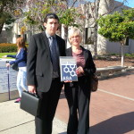 Alex Ayres with mother, Joyce outside Vista courthouse in San Diego County